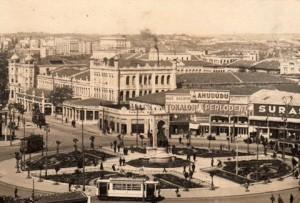 Der Taxim Platz in Istanbul - so um die 40'er rum